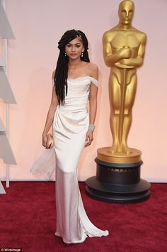 Vision in white: The 40-year-old said the 18-year-old mized race singer and actress probably smelled of 'patchouli oil and weed.' Zendaya promptly issued a statement, calling Giuliana's words an 'ignorant slurs'