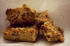Homemade Chewy Fruit & Veggie Snack Bars - perfect for toddlers on the go!