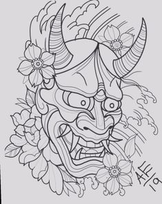 ✔ Tattoo Art Drawings Japan - ✔ Tattoo Art Drawings Japan Best Picture For Body Suit fashion For Your Taste You are looking for something, and it Hannya Maske Tattoo, Oni Mask Tattoo, Hanya Tattoo, Tattoo Arm, Japan Tattoo Design, Tattoo Design Drawings, Tattoo Sketches, Art Drawings, Japanese Demon Tattoo