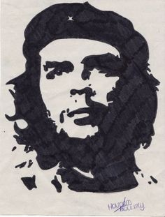 portraits noirs et blancs | Stars Portraits - Portrait de Che Guevara par maoui96