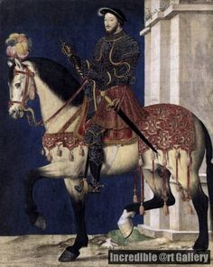 Portrait of Francis I, King of France c. 1540 by Francois Clouet