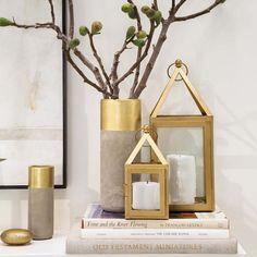 Mistura de metais - objetos decorativos -   Tendências Decoração 2018
