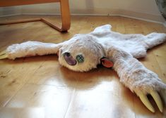 Monster Skin Rug - my kitties would love to curl up on this!