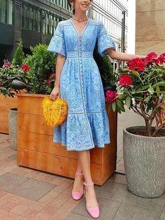 Women fashion lace v neck maxi dresses - ClothingI Date Dresses, Casual Dresses, Fashion Dresses, Maxi Dress With Sleeves, Lace Dress, Short Sleeve Dresses, Lace Maxi, Short Sleeves, Look Fashion