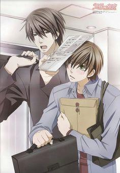 Sekai-Ichi Hatsukoi- Takano x Ritsu love this anime ❤️ i have to rewatch it Boys Anime, Manga Anime, Anime Art, Anime Love, Manhwa, Ex Amor, Image Manga, Anime Kawaii, Shounen Ai