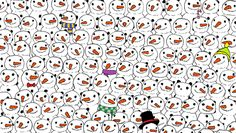 Onderwijs en zo voort ........: 2756. Zoek de Panda : Afbeelding 5 ( Sneeuwpoppen ...