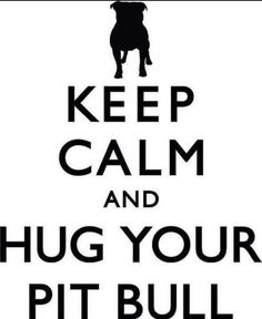 Keep Calm and Hug Your #Pitbull