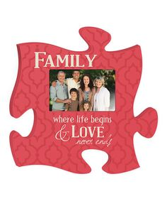 Look what I found on #zulily! 'Family' Puzzle Piece Photo Frame #zulilyfinds