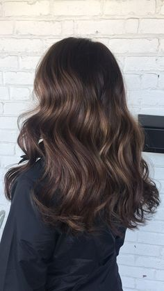 Soft brown balayage. Perfect fall and winter style!
