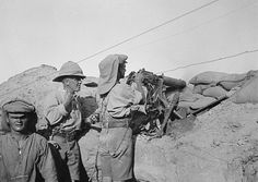PHOTOGRAPHS RELATING SERVICE H T ANDREW MEDICAL OFFICER WITH 29TH DIVISION DURING... (HU 105670)   Vickers machine gun post in 29th Division's line at Helles, Gallipoli.
