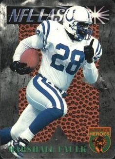 1996 Score Board NFL Lasers - Sunday's Heroes #SH14 Marshall Faulk Front