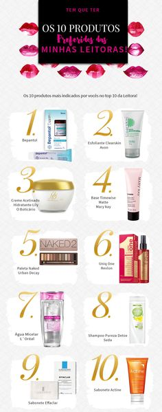 10 produtos preferidos das minhas leitoras How To Make Hair, Make Up, Beauty Secrets, Beauty Hacks, Beauty Care, Hair Beauty, Spa Day At Home, Canal E, Hair And Nails