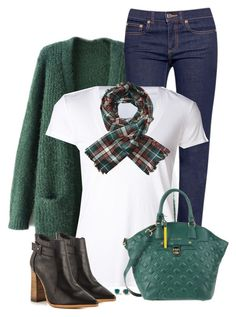 """""""Green Quilted Bag"""" by daiscat on Polyvore featuring Tory Burch, James Perse, Scotch & Soda, Cromia, Tinley Road and Steven by Steve Madden"""