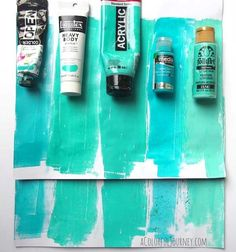 Take a look at how these five paints work on the Gelli® printing plate!