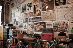 workspaces - Cicli Devotion's Brooklyn Workshop | via