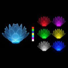 Krásné osvětlení v podobě barvy měnící 3D LED lampy ve tvaru lotosového květu se hodí nejen pro slavnostní příležitosti, ale klidně i jen tak, kdykoliv, pro radost. Led Lamp