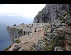 Preikestolen on a busy afternoon hour, Rogaland / Norway   Flickr - Photo Sharing!
