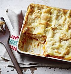 An easy-to-make vegetarian lasagne. Serve with a simple salad and garlic bread