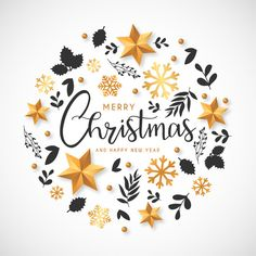 Christmas background with golden decorations and hand drawn leaves . - Christmas background with golden decorations and hand drawn leaves Free Vector Pre Christmas, Christmas Images, Christmas Wishes, Christmas Crafts, Christmas Jesus, Christmas Banners, Christmas Decorations, Christmas Background, Christmas Wallpaper