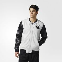 adidas - Harden Varsity Jacke Light Grey Heather CE4707
