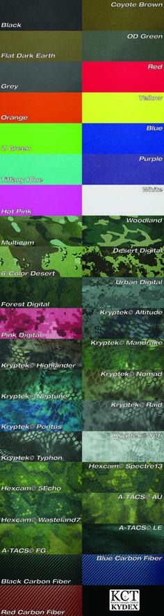KCT Kydex - Color Options | KCT Kydex