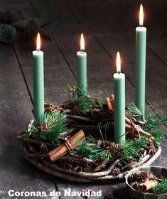 Christmas Advent Wreath, Noel Christmas, Christmas 2019, Christmas Crafts, Christmas Colors, Xmas, Advent Wreaths, Christmas Tables, Green Christmas