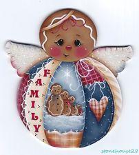 """HP GINGERBREAD """"Family"""" Angel FRIDGE MAGNET"""