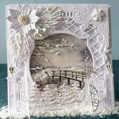 Christmas Cards 2017, Homemade Christmas Cards, Christmas Tag, Holiday Cards, Christmas Decorations, Star Cards, 3d Cards, Cool Cards, Tattered Lace Cards