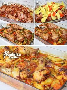 Baked Vegetable Chicken Meal Recipe, How To? – Womanly Recipes – Delicious, Practical and Delicious Food Recipes Site - Rezepte Ideen Chicken Recipes Video, Baked Chicken Recipes, Meat Recipes, Pasta Recipes, Dinner Recipes, Recipe Chicken, Roasted Chicken, Baked Chicken With Vegetables, Roast Chicken Dinner