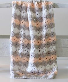 petal stitch baby blanket