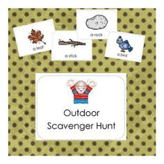 Get your kiddos outside and exploring with this fun scavenger hunt! Download includes a printable mini book with one scavenger item picture and phr...