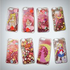 Gorgeous transparent iPhonecase with Sailor Moon design! Back of the case has a beautiful quicksand snow globe effect, filled with liquid, brightly coloured glitter and stars that you can shake up and move around. Available in 8 different designs featuring Sailor Moon, Chibiusa and various items ...