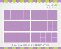 Facebook Timeline Templates. Easy to drop your photos into the layers by placing them with in the existing clipping mask. You will need basic