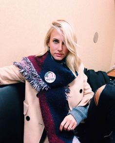 jenna joseph sporting her Vote Tyler pin on instagram