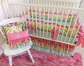 Crib Bedding MADE TO ORDER Baby Girl Bedding