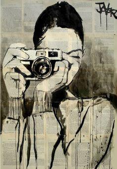 "Saatchi Online Artist: Loui Jover; Pen and Ink, 2013, Drawing ""smile"""