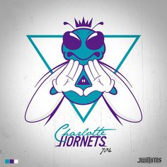 """Art of the Day: Charlotte Hornets """"Illuminati"""" logo Basketball Art, Basketball Pictures, Love And Basketball, Nba, Pencil Drawings Of Animals, Charlotte Hornets, Sports Logo, Art Day, Logo Design"""