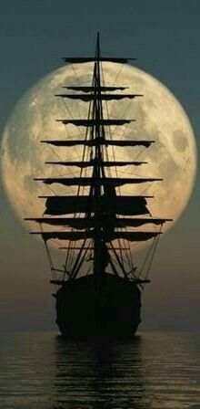 Pirate Ship in the Moonlight