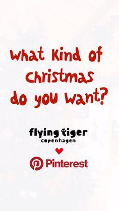 """Flying Tiger とPinterest のクリスマスコラボ企画! Pinterestで見つけたクリスマスアイデアをフライング タイガーのアイテムで 実現しましょう! フライング タイガー コペンハーゲン と ピンタレストの共同プロジェクト、 『あなただけの""""お家""""クリスマスを見つけよう!』。 世界中のアイディアをピンタレストで発見。 それを家族やお友達と会話しながら、フライング タイガー コペンハーゲンの商品で、もっと素敵なデコレーションを実現してもらうという企画です。 詳しくは「アクセスする」ボタンからチェック!どんなアイデアがどんな商品で、そしてどんなデコレーションに繋がったか、ぜひご覧ください!"""