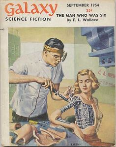Galaxy Magazine, Sept. 1954.  Many of us were first exposed to science fiction while watching television or going to the movies. For others it was pulp magazines or the library.