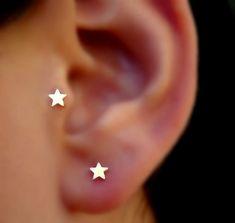 Star Tragus/Nose Ring/Cartilage Earring 14K Solid Rose Gold