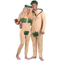 Adam and Eve Adult Halloween Costume Set - Walmart #couples #couplecostumes #halloweencostumes