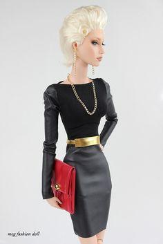 New outfit for Sybarite /FR16/''Black I'' | por meg fashion doll