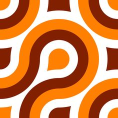 A retro pattern in a 1970's style and colours.