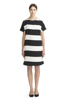 Moma Dress White/Black