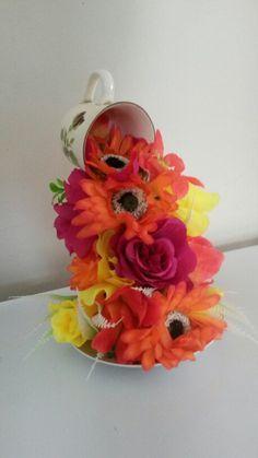 vintage #teacup #flowers Vintage flying jewelled teacups ...
