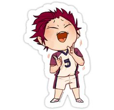 'Tendou Satori' Sticker by juunichiro Haikyuu Fanart, Haikyuu Anime, Anime Chibi, Kawaii Anime, Anime Art, Tumblr Stickers, Anime Stickers, Kawaii Stickers, Cute Stickers