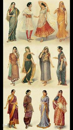 Samsakaara Historical Clothing, Estilo Fashion, Dresscode, India Culture, Indian Art, Indian India, Traditional Dresses, Traditional Fashion, Traditional Wedding