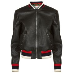 Gucci Blind For Love Bomber Jacket (9.935 BRL) ❤ liked on Polyvore featuring outerwear, jackets, lambskin leather bomber jacket, blouson jacket, pocket jacket, gucci and lambskin flight jacket