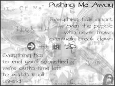 Linkin Park lyrics - pushing me away